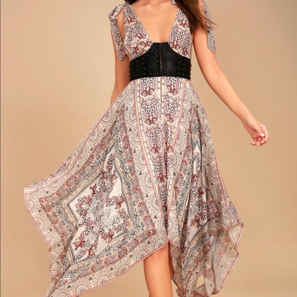 Free People Dresses & Skirts - Sexy boho paisley bustier dress